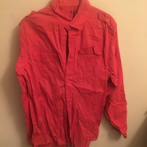 Red Button Down Dress Shirt